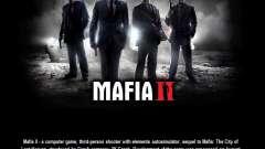 L'écran de démarrage de Mafia II