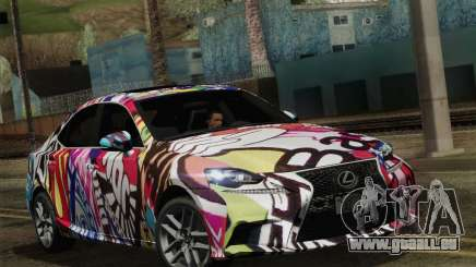 Lexus IS350 FSPORT Stikers Editions 2014 für GTA San Andreas