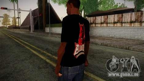 Bloods T-Shirt für GTA San Andreas zweiten Screenshot