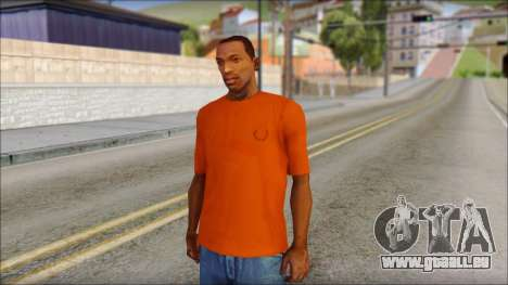 Fred Perry T-Shirt Orange für GTA San Andreas