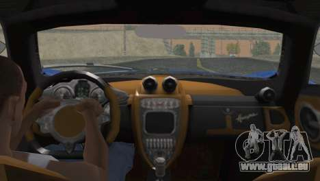Pagani Huayra 2012 für GTA San Andreas zurück linke Ansicht
