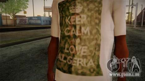 Keep Calm and Love Shirt für GTA San Andreas dritten Screenshot
