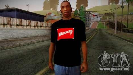 Bloods T-Shirt pour GTA San Andreas