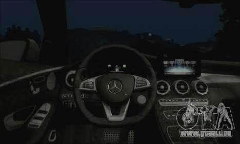 Mercedes-Benz C250 2014 V1.0 EU Plate für GTA San Andreas Rückansicht