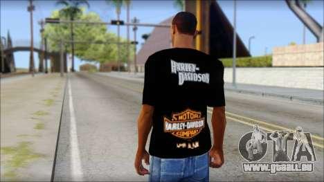 Harley Davidson Black T-Shirt für GTA San Andreas zweiten Screenshot