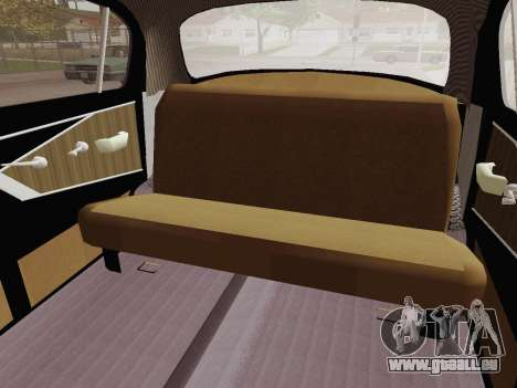 GAZ 21 Limousine pour GTA San Andreas vue intérieure