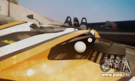 KTM X-Bow R 2011 für GTA San Andreas Rückansicht