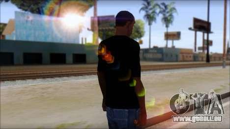 Sepultura Logo T-Shirt für GTA San Andreas zweiten Screenshot