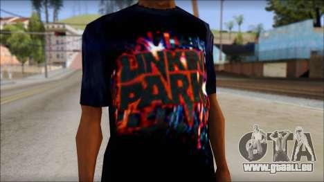 Linkin Park T-Shirt pour GTA San Andreas troisième écran