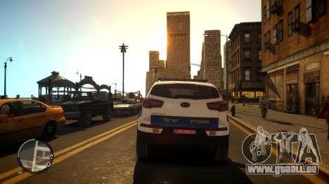 Kia Sportage Israel Police car (Mishtara) für GTA 4 rechte Ansicht