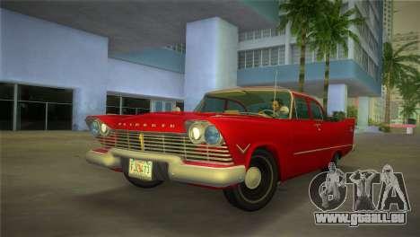 Plymouth Savoy Club Sedan 1957 pour GTA Vice City