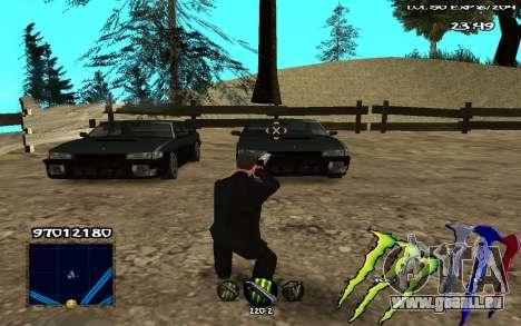 C-HUD Monster Energy pour GTA San Andreas troisième écran