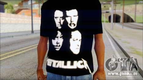 Metallica T-Shirt pour GTA San Andreas troisième écran
