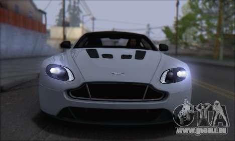 Aston Martin V12 Vantage S 2013 für GTA San Andreas zurück linke Ansicht