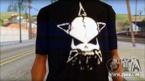 Infected Rain T-Shirt pour GTA San Andreas troisième écran