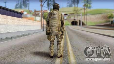 Forest SFOD from Soldier Front 2 pour GTA San Andreas deuxième écran