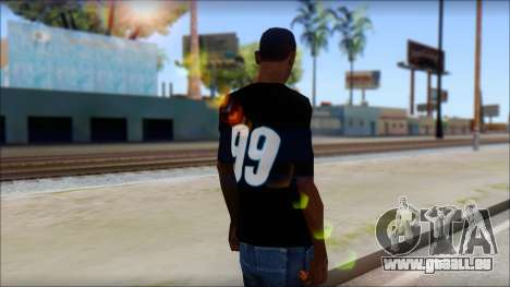 Fictional Carl Edwards T-Shirt pour GTA San Andreas deuxième écran