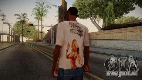 GTA 5 Hot Girl T-Shirt pour GTA San Andreas deuxième écran