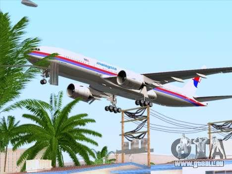 Boeing 777-2H6ER Malaysia Airlines pour GTA San Andreas vue de dessous