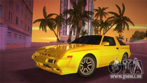 Mitsubishi Starion ESI-R 1986 pour une vue GTA Vice City de l'intérieur
