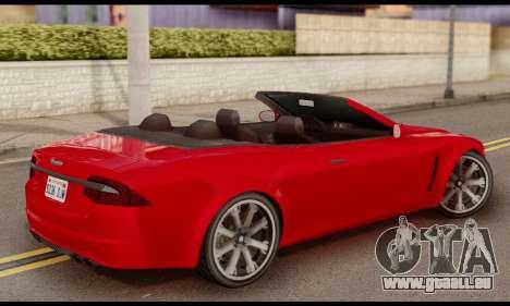 Lampadati Felon GT 1.1 pour GTA San Andreas laissé vue
