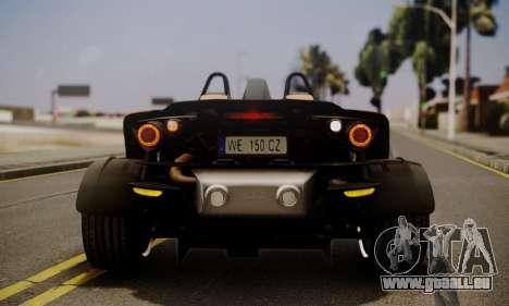 KTM X-Bow R 2011 für GTA San Andreas Unteransicht