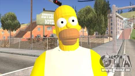 Homer Simpson Skin pour GTA San Andreas troisième écran