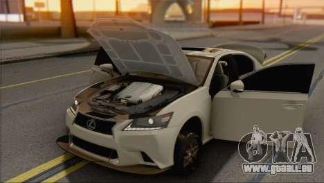 Lexus GS350 für GTA San Andreas rechten Ansicht