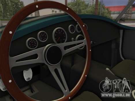 Shelby Cobra für GTA Vice City zurück linke Ansicht