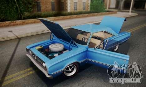 Dodge Coronet 440 Hardtop Coupe (WH23) 1967 pour GTA San Andreas vue intérieure