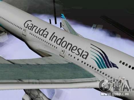 Boeing 747-400 de Garuda Indonesia pour GTA San Andreas sur la vue arrière gauche