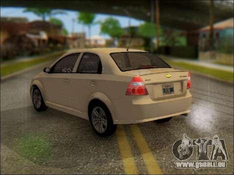 Chevrolet Aveo 2007 pour GTA San Andreas laissé vue