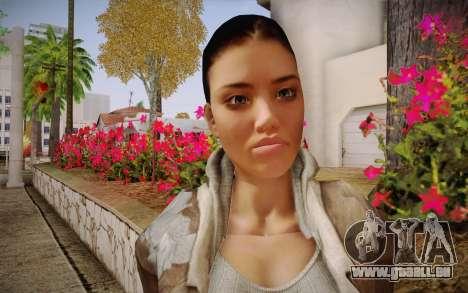 Alyx Vance CM (Adriana Lima) v.1.0 pour GTA San Andreas troisième écran