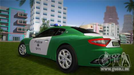Maserati Granturismo Police für GTA Vice City linke Ansicht