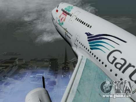 Boeing 747-400 de Garuda Indonesia pour GTA San Andreas vue intérieure