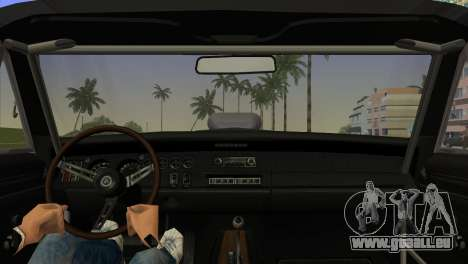 Dodge Charger RT Street Drag 1969 für GTA Vice City zurück linke Ansicht
