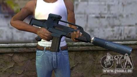 XM8 Compact Blue pour GTA San Andreas troisième écran