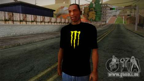 Monster Ripper Shirt Black für GTA San Andreas