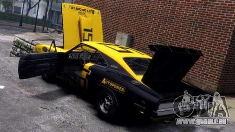 Dodge Charger RT 1969 EPM pour GTA 4 vue de dessus