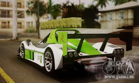 Radical SR8 Supersport 2010 pour GTA San Andreas laissé vue