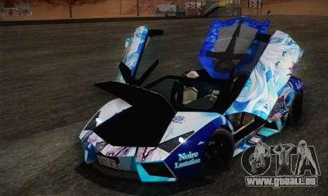 Lamborghini Reventon Black Heart Edition pour GTA San Andreas vue de côté