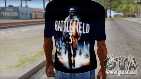 Battlefield 3 Fan Shirt für GTA San Andreas dritten Screenshot