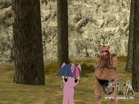 Twilight Sparkle pour GTA San Andreas deuxième écran