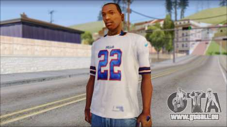 NY Buffalo Bills White pour GTA San Andreas