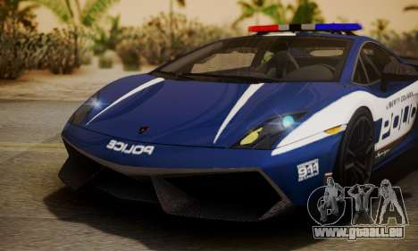 Lamborghini Gallardo LP570-4 2011 Police pour GTA San Andreas vue intérieure
