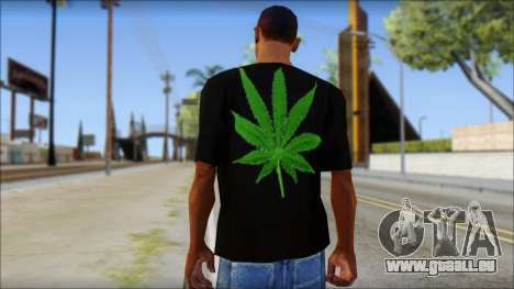Bob Marley T-Shirt für GTA San Andreas zweiten Screenshot