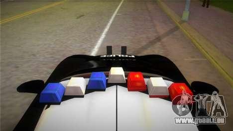 Porsche Carrera GT Police pour GTA Vice City sur la vue arrière gauche