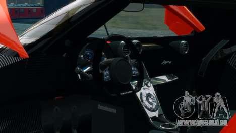 Koenigsegg Agera R 2013 pour GTA 4 vue de dessus