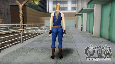 Sarah from Dead or Alive 5 v2 pour GTA San Andreas deuxième écran