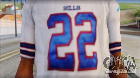 NY Buffalo Bills White pour GTA San Andreas troisième écran